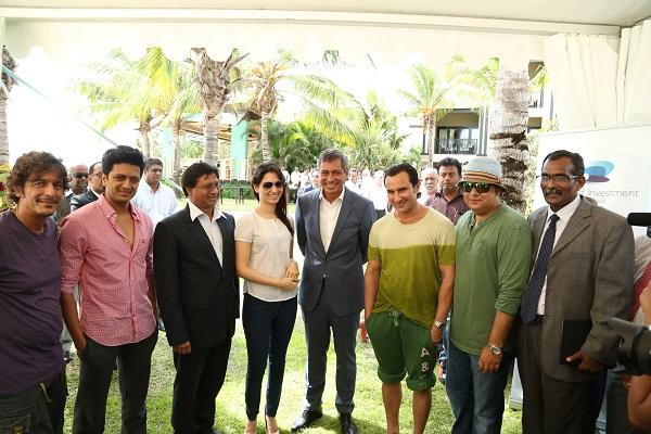 Director Sajid Khan and Humshakals team with Mr Xavier Luc Duval and Mr. Mukhesswur Choone