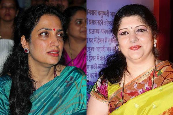 Rashmi Thackeray (left) and Sharmila Thackeray (right)